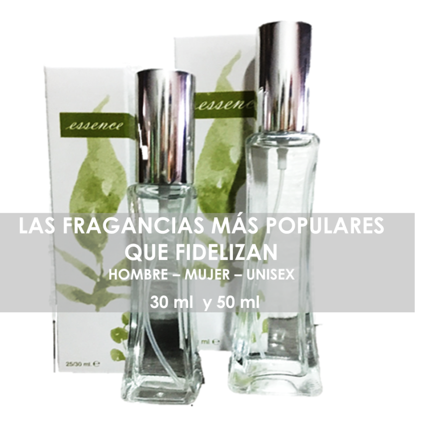 Las fragancias y esencias más populares disponibles en 30 ml y 50 ml